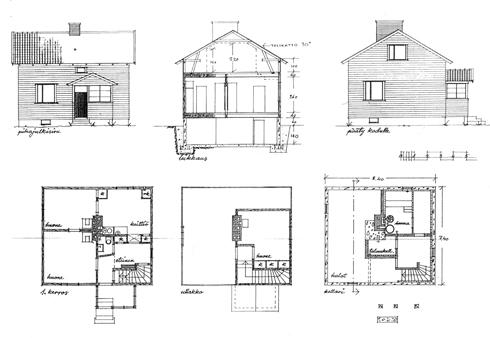 Rakennuspiirustukset Merkinnät