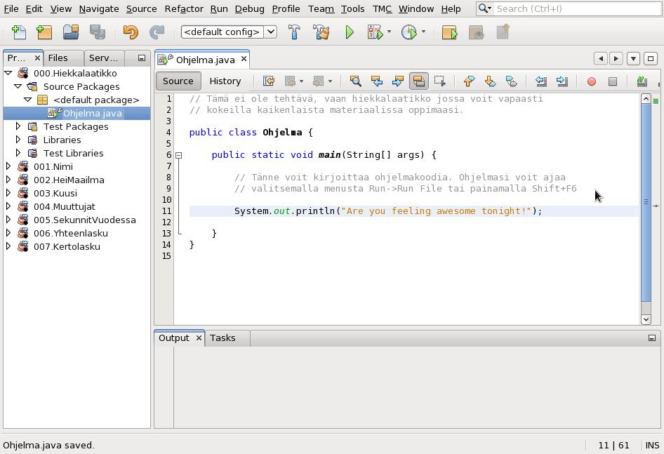 Ohjelmoinnin aloitus NetBeansia käyttäen