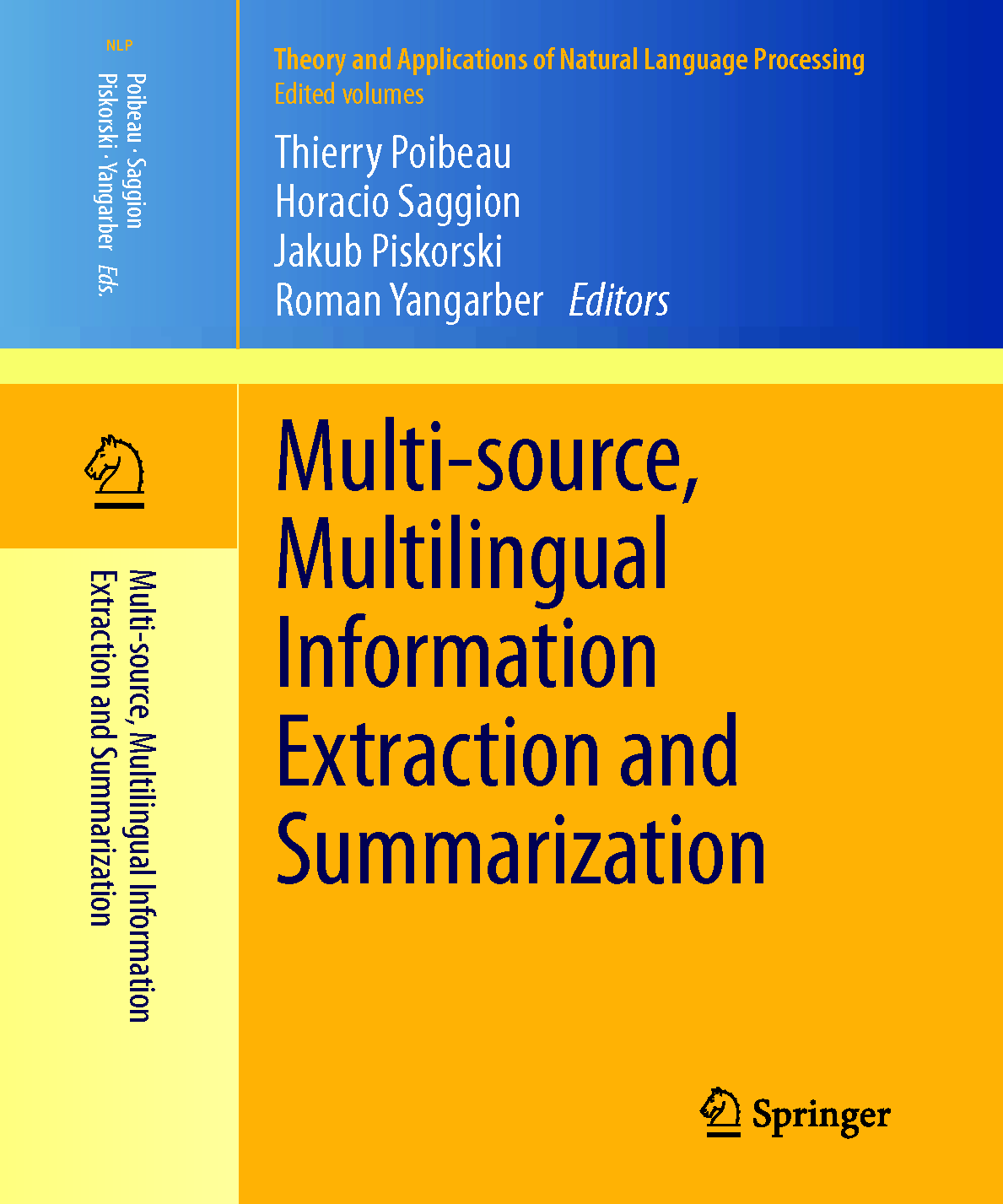 Cover: Multi-source, Multilingual Information                       Extraction and Summarization